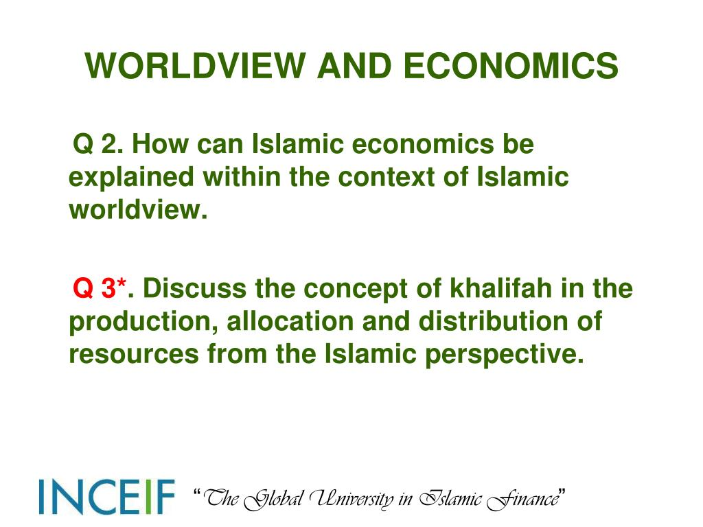WORLDVIEW AND ECONOMICS