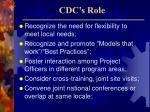 cdc s role