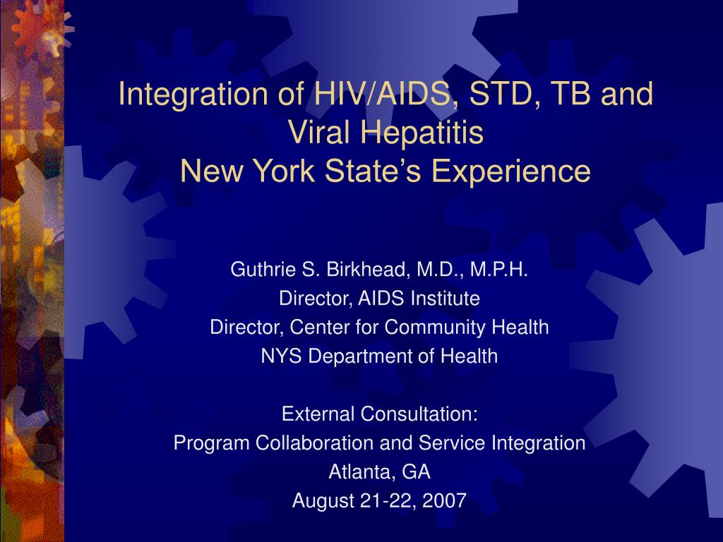 integration of hiv aids std tb and viral hepatitis new york state s experience