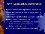 nys approach to integration