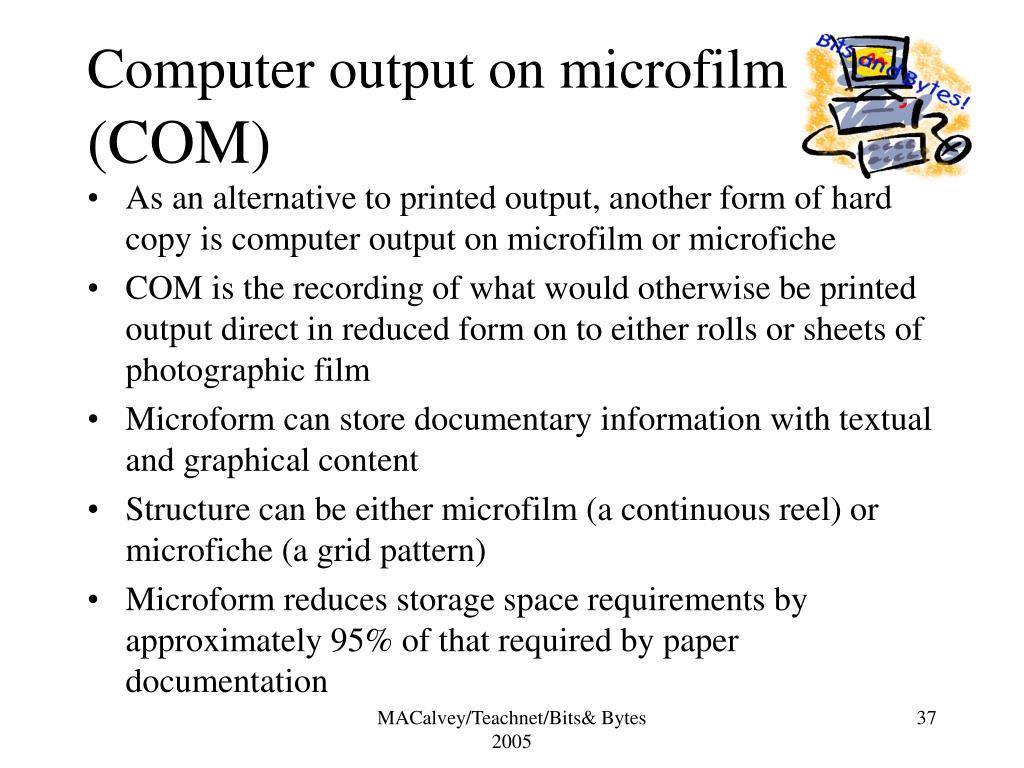 Computer output on microfilm