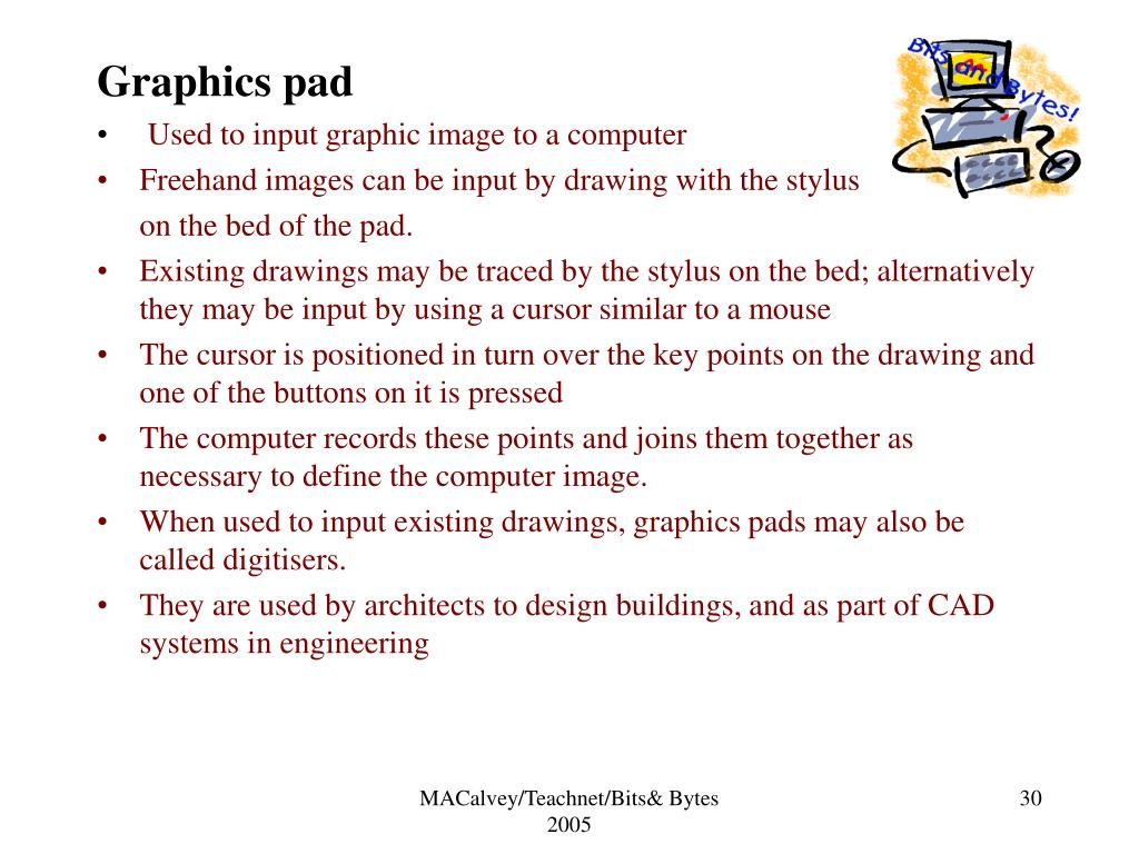 Graphics pad