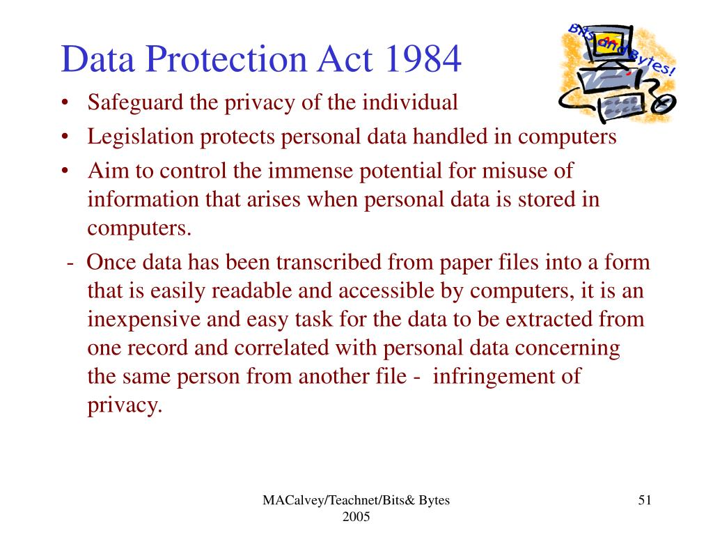 Data Protection Act 1984
