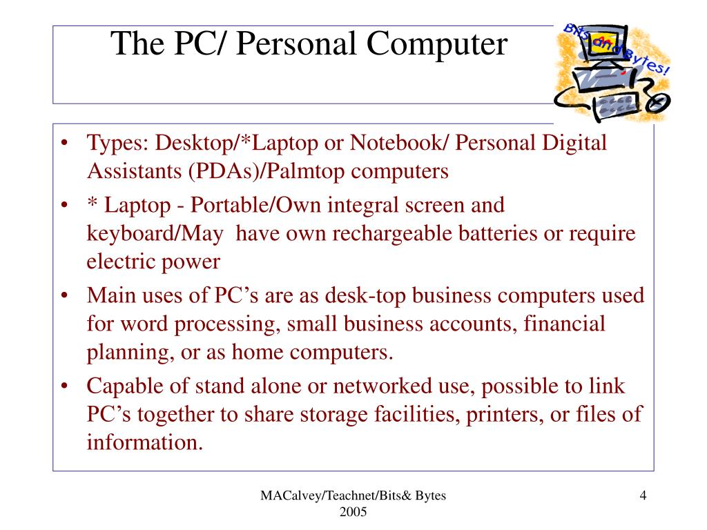The PC/ Personal Computer