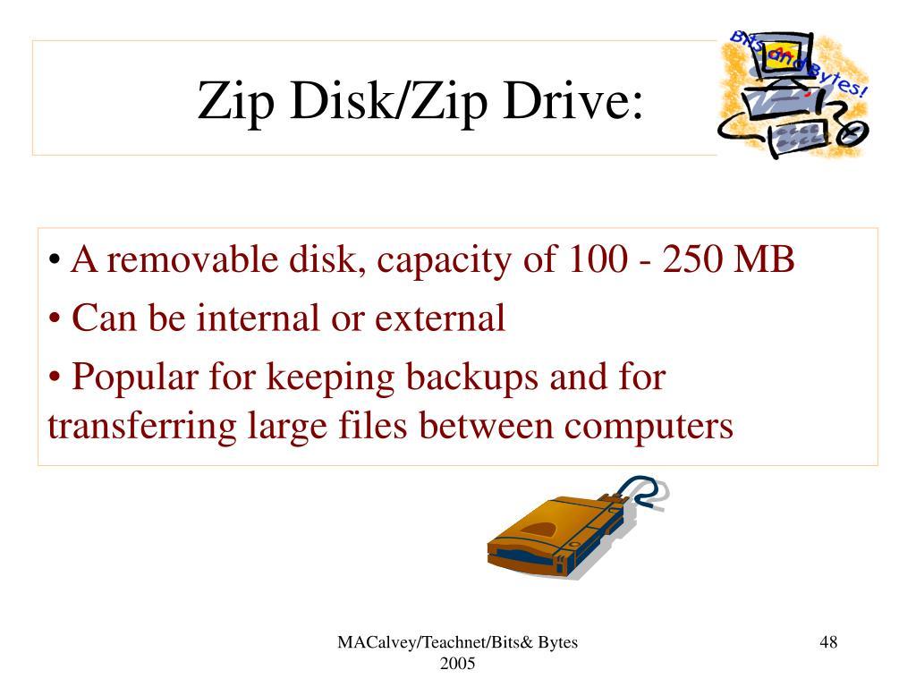Zip Disk/Zip Drive: