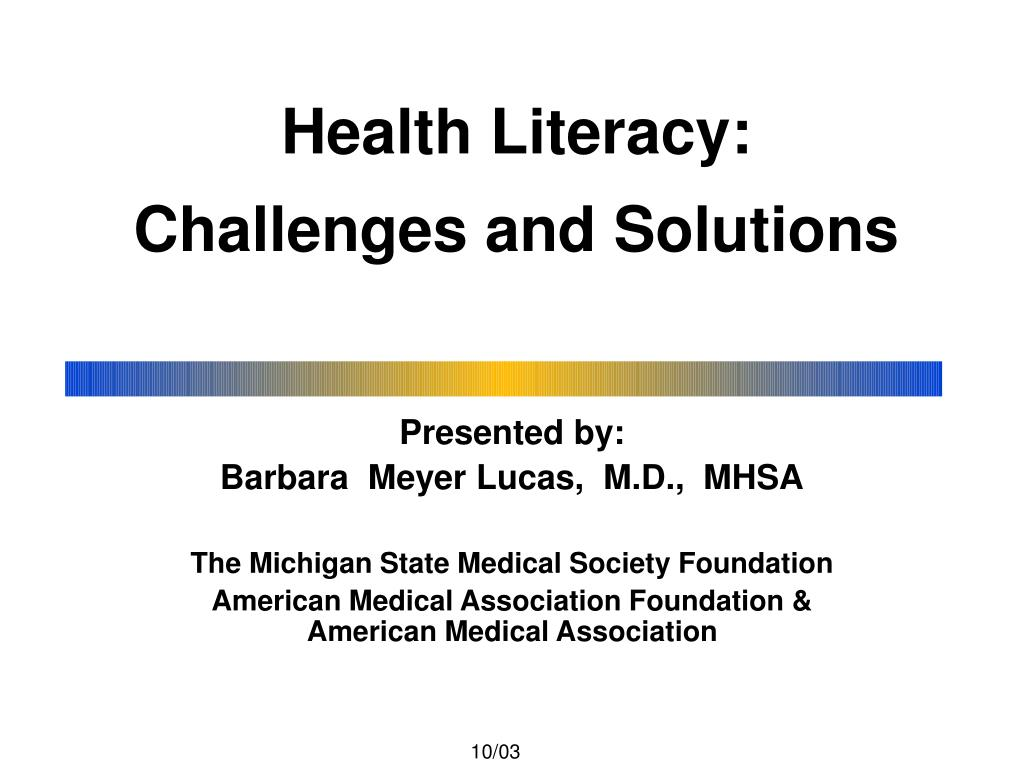 health literacy challenges and solutions