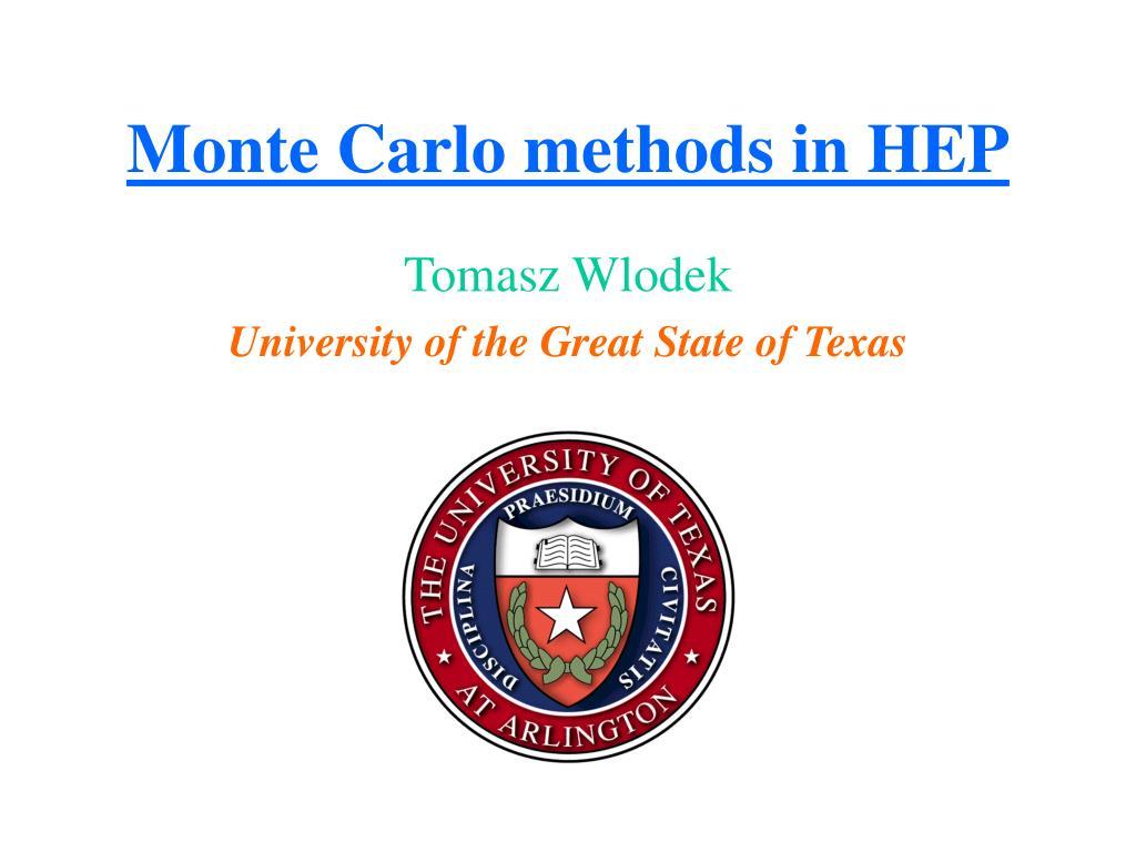 monte carlo methods in hep