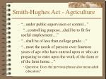 smith hughes act agriculture
