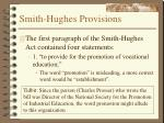 smith hughes provisions