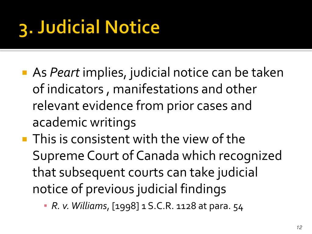 3. Judicial Notice
