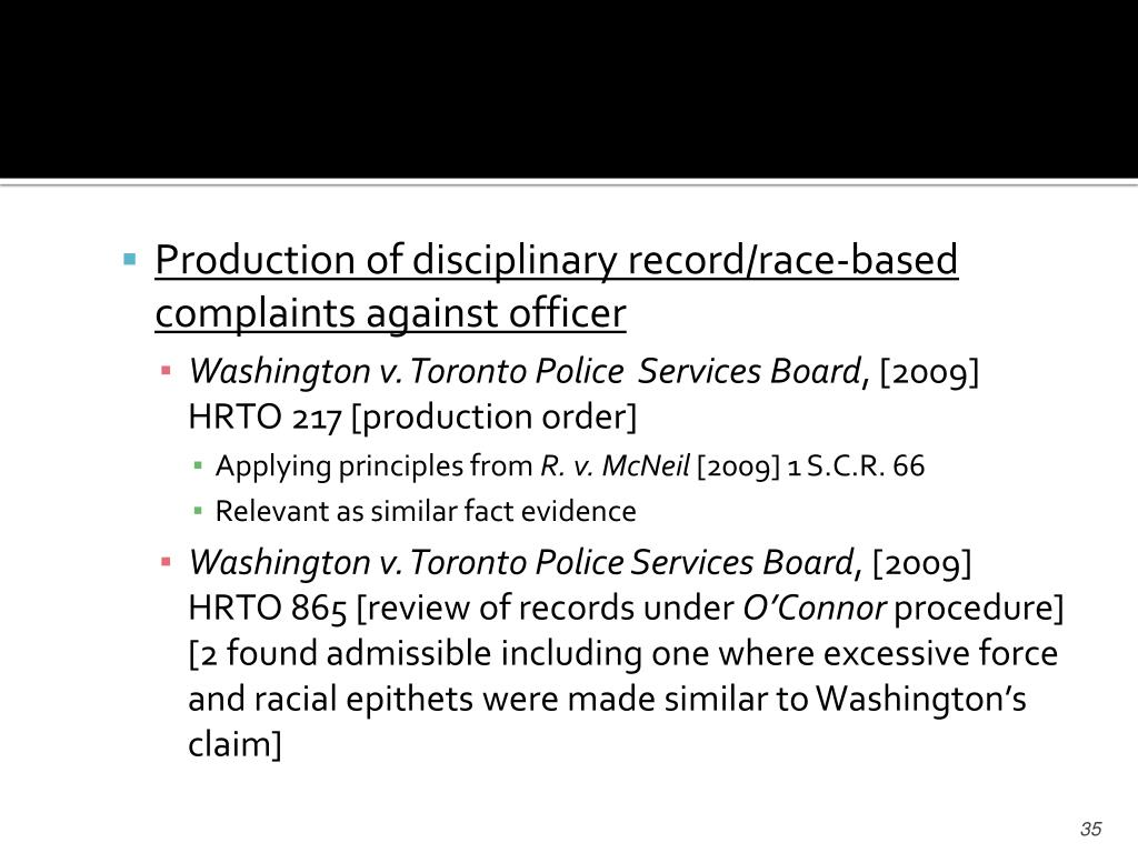 Production of disciplinary record/race-based complaints against officer