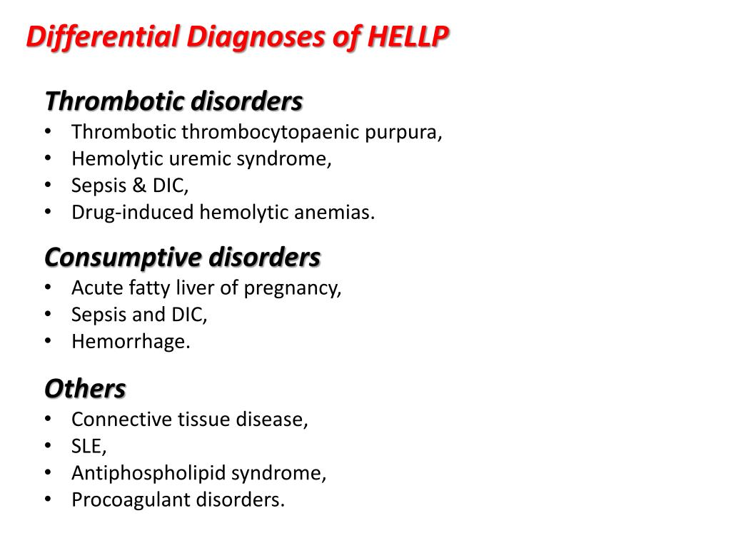Differential Diagnoses of HELLP