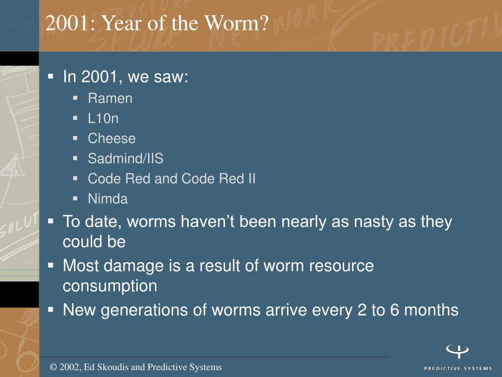 2001: Year of the Worm?
