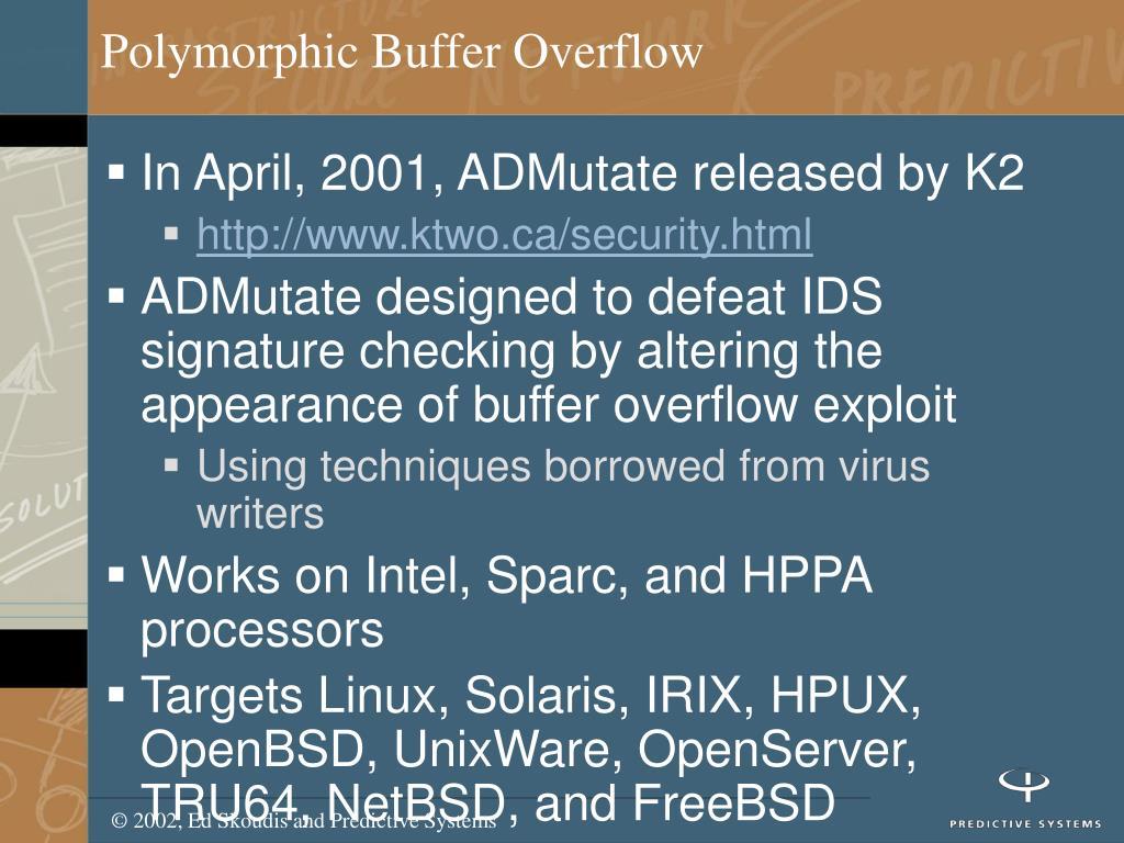 Polymorphic Buffer Overflow