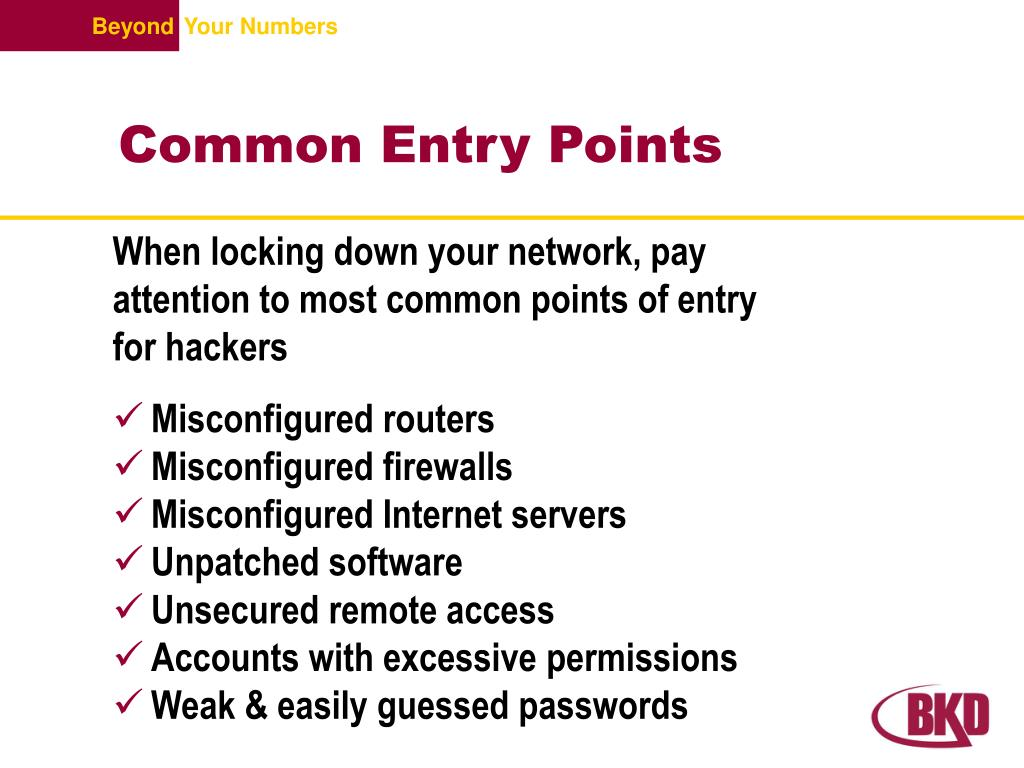 Common Entry Points