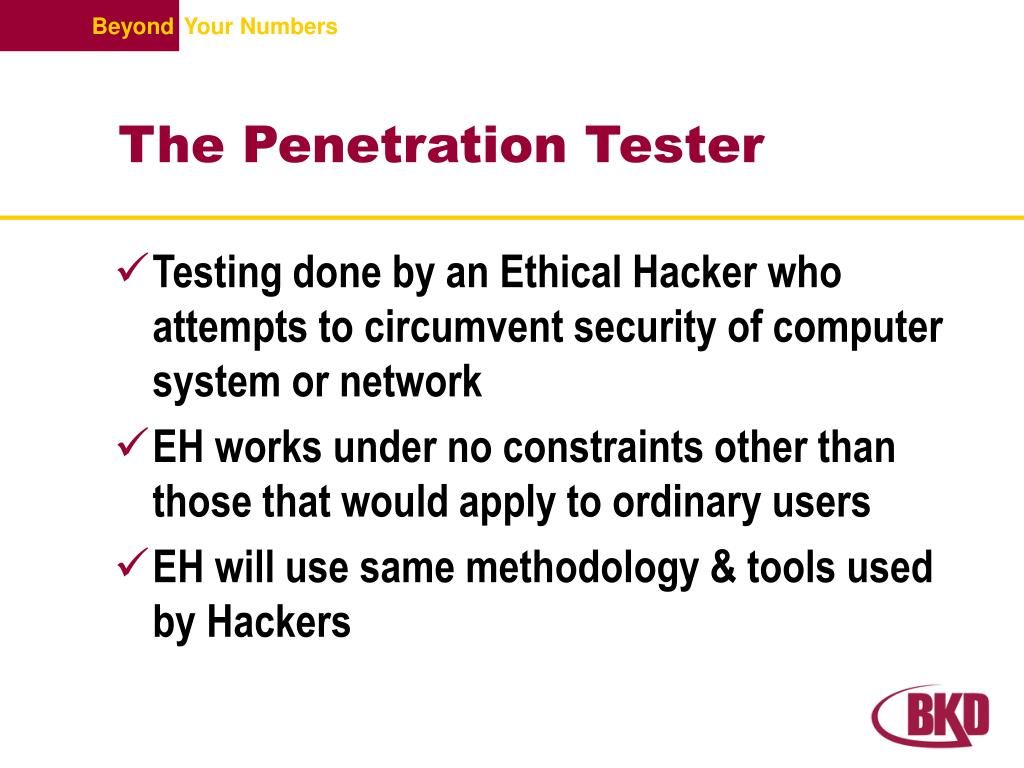 The Penetration Tester