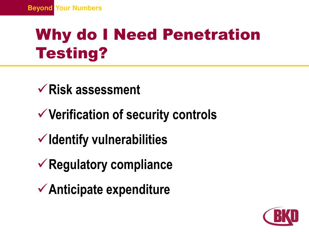 Why do I Need Penetration Testing?