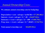 annual ownership costs