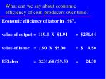 what can we say about economic efficiency of corn producers over time22