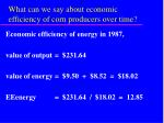 what can we say about economic efficiency of corn producers over time24