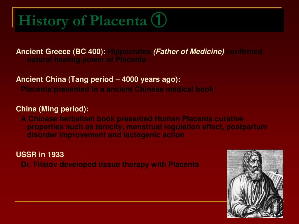 History of Placenta ①