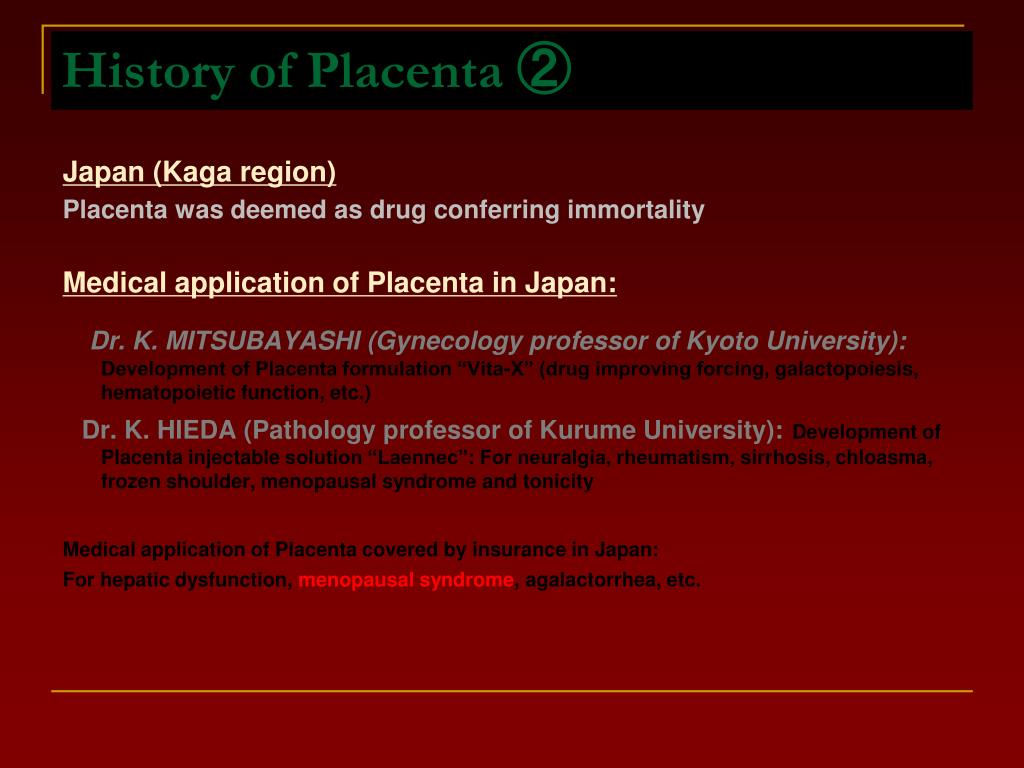History of Placenta ②