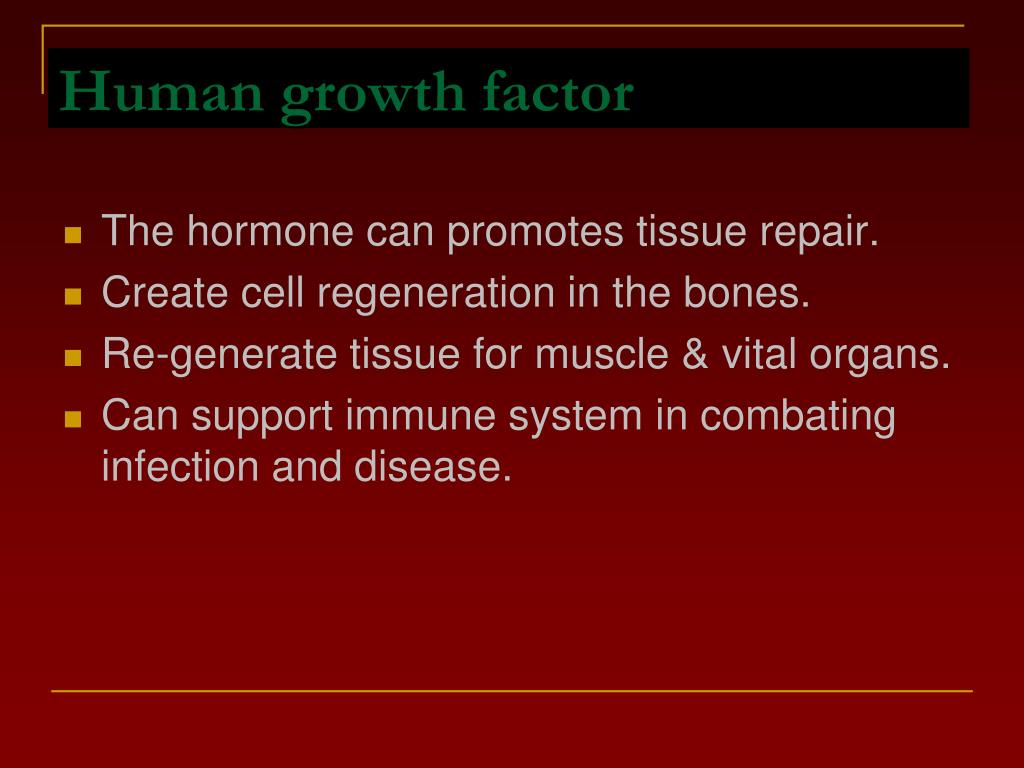 Human growth factor