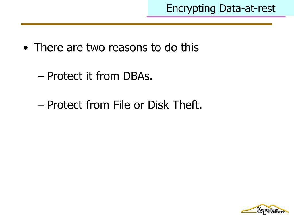 Encrypting Data-at-rest