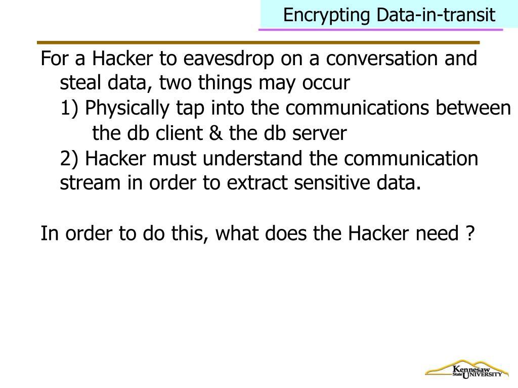 Encrypting Data-in-transit