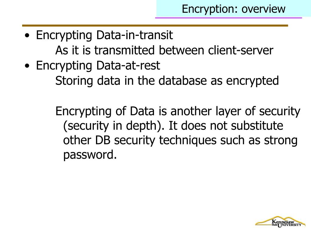 Encryption: overview