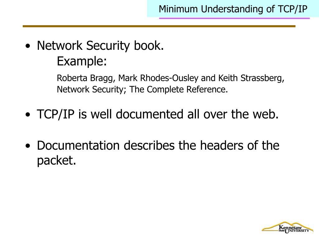 Minimum Understanding of TCP/IP