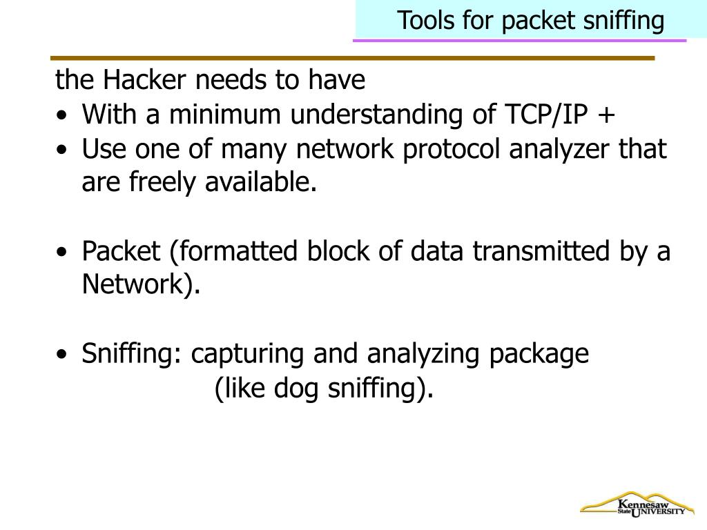 Tools for packet sniffing