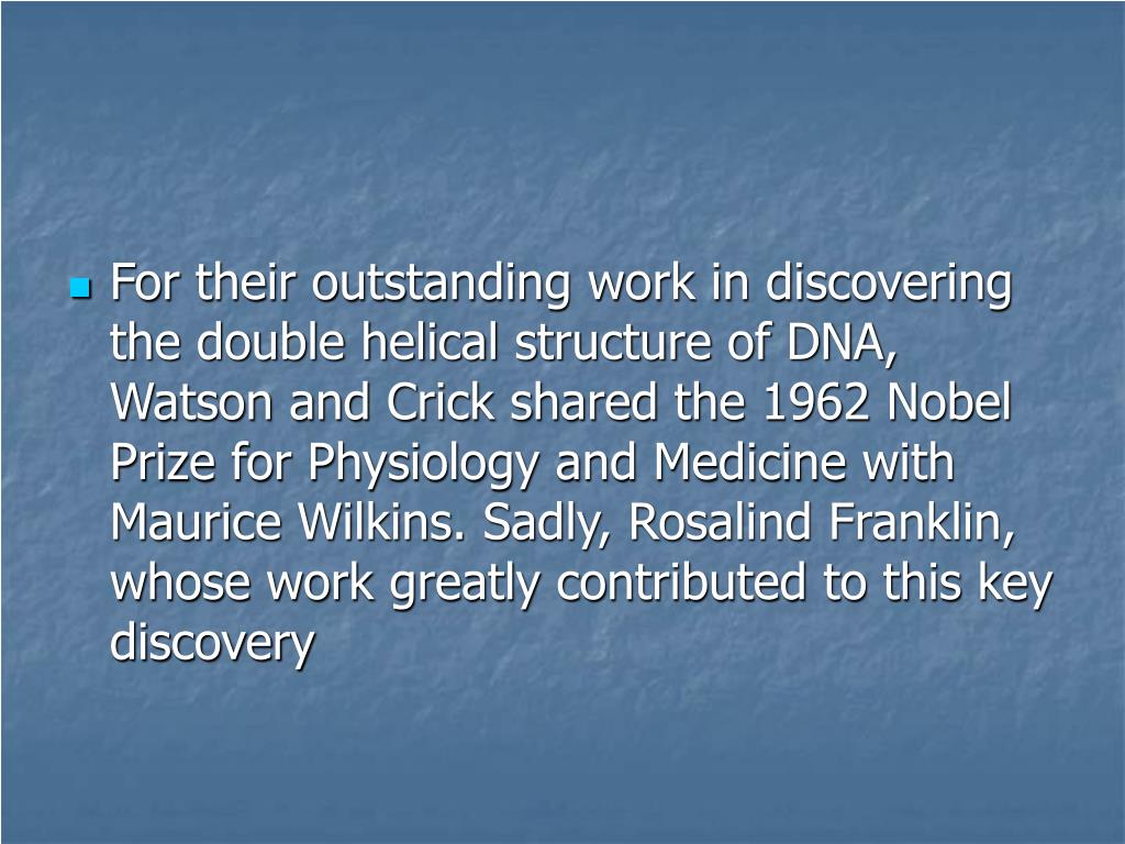 maurice wilkins and rosalind franklin relationship quizzes