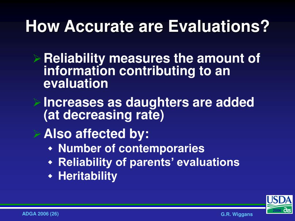 How Accurate are Evaluations?
