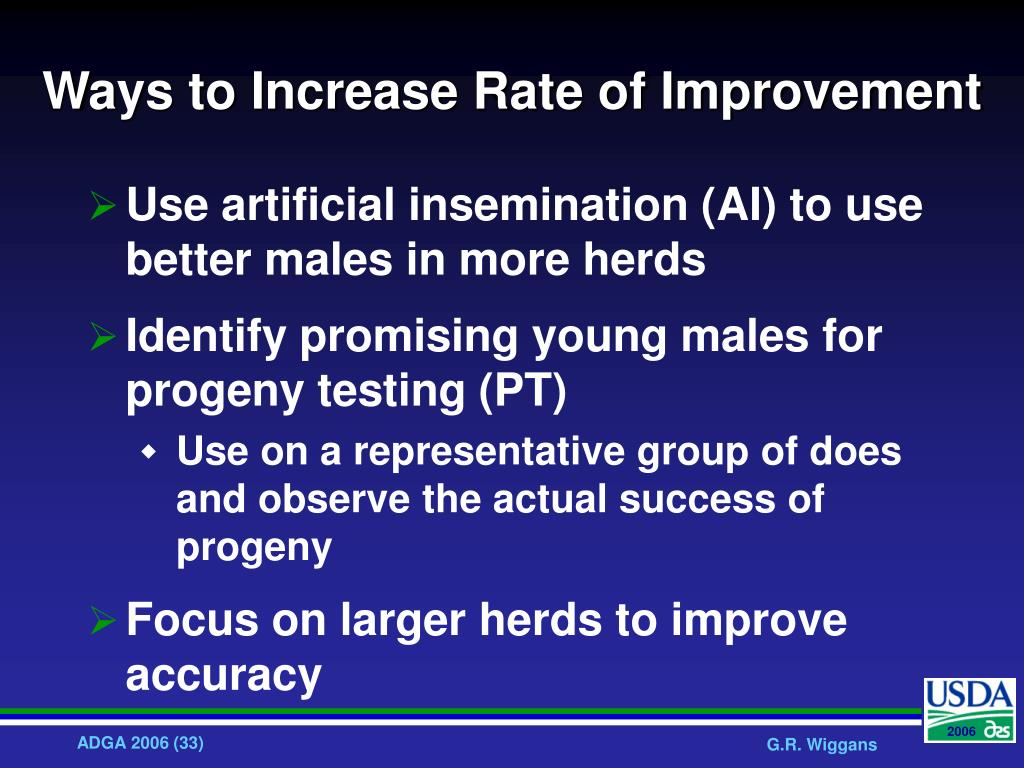 Ways to Increase Rate of Improvement