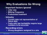 why evaluations go wrong