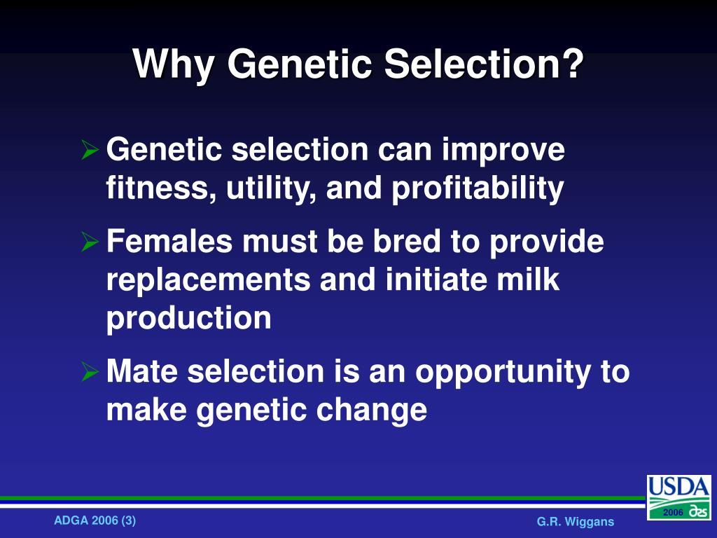 Why Genetic Selection?