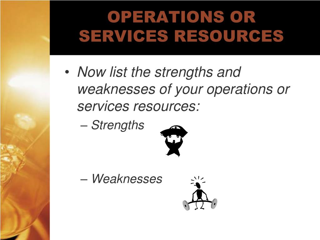 OPERATIONS OR SERVICES RESOURCES