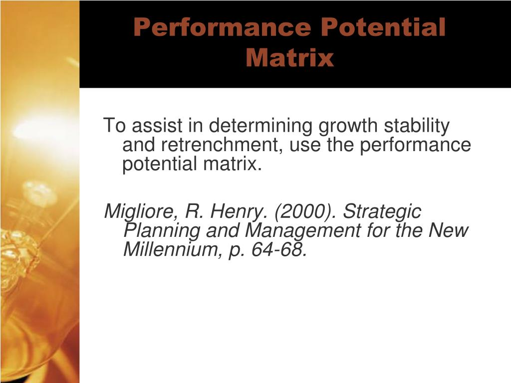 Performance Potential Matrix