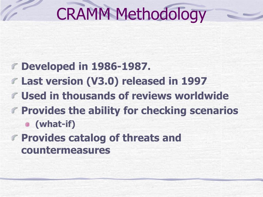 CRAMM Methodology