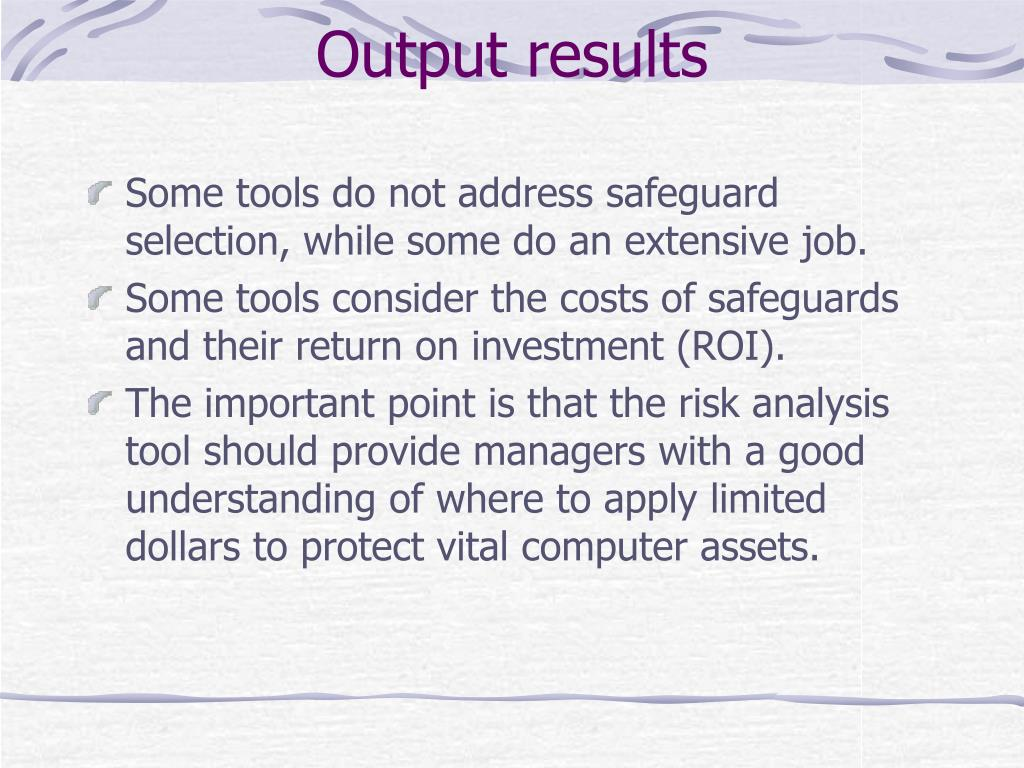 Output results