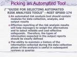 picking an automated tool