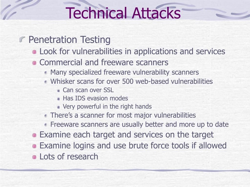 Technical Attacks