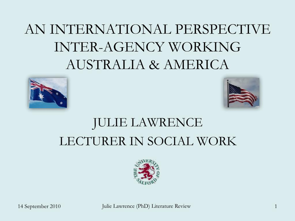 an international perspective inter agency working australia america