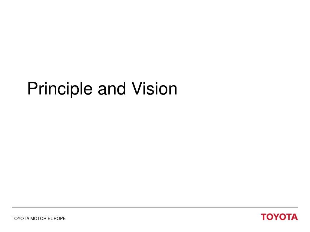 Principle and Vision