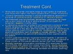 treatment cont