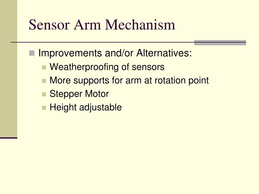 Sensor Arm Mechanism