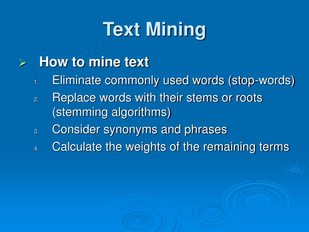 Text mining techniques ppt