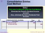 consolidation entries cost method40