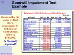 goodwill impairment test example